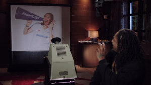 Marshawn Lynch Opaque Projector 6 with Flo of Progressive Insurance